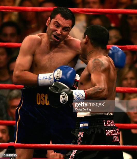 Oscar De La Hoya and Ricardo Mayorga battled for the World Super Welterweight Championship on May 6 2006 at the MGM Grand in Las Vegas Nevada De La...