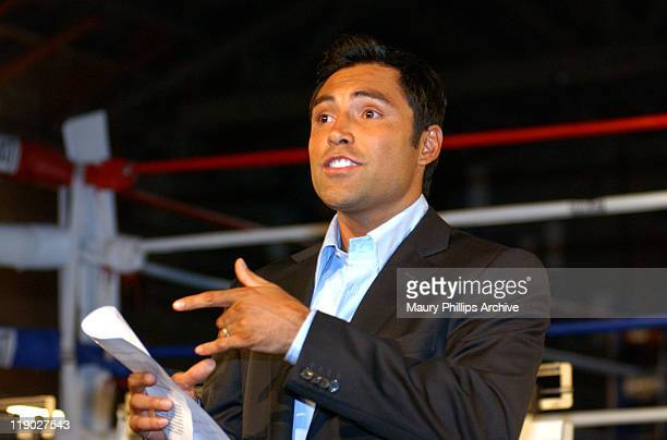 Oscar De La Hoya during 'The Next Great Champ' Media Day at 'The Next Great Champ' Gym in Los Angeles California United States