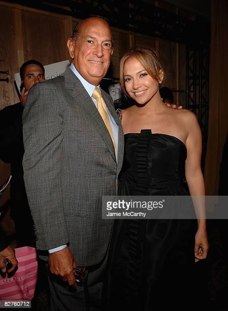 Oscar De La Renta and Jennifer Lopez attend Oscar De La Renta Spring 2009 at 583 Park Avenue on September 10 2008 in New York City