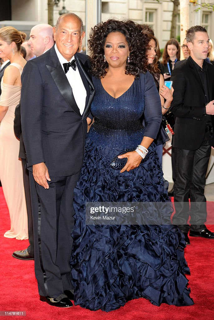 Oscar De La Renta and Oprah Winfrey attend the Costume Institute Gala Benefit to celebrate the opening of the 'American Woman: Fashioning a National Identity' exhibition at The Metropolitan Museum of Art on May 3, 2010 in New York City.