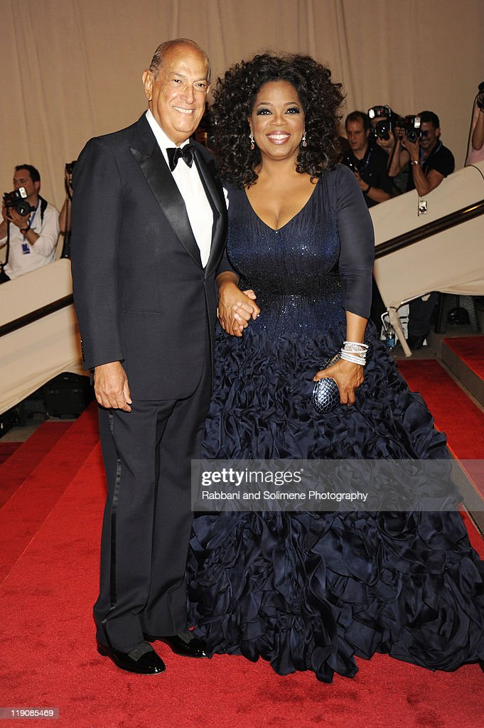Oscar de la Renta and Oprah Winfrey attend the Costume Institute Gala Benefit to celebrate the opening of the 'American Woman: Fashioning a National Identity' exhibition at The Metropolitan Museum of Art on May 8, 2010 in New York City.