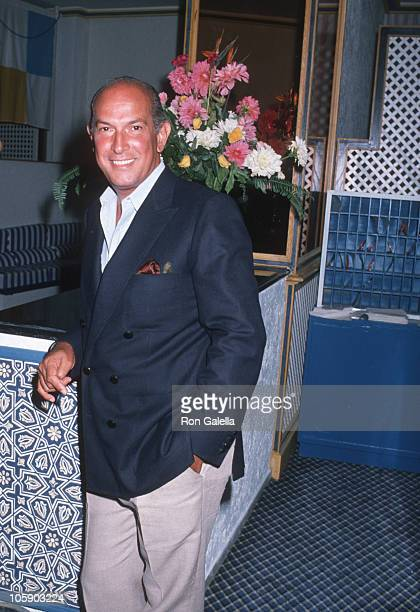 Oscar de la Renta during Malcolm Forbes' 70th Birthday Party 1989 at Tangier Country Club in Tangier Morocco Morocco