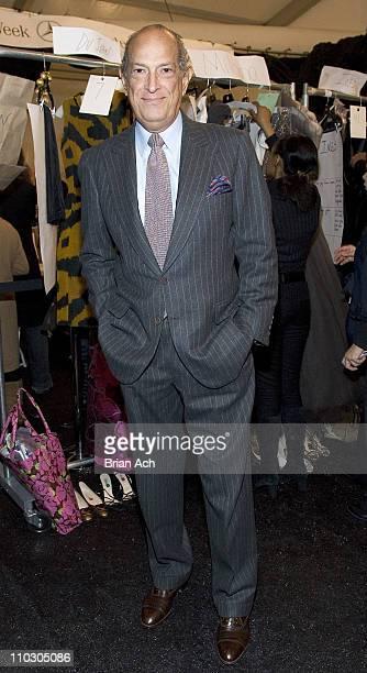 Oscar De La Renta during MercedesBenz Fashion Week Fall 2007 Oscar de la Renta Front Row and Backstage at Bryant Park in New York New York United...