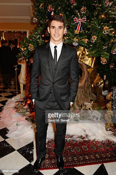 Oscar dos Santos Emboaba Junior attends the Claridge's Dolce and Gabbana Christmas Tree party at Claridge's Hotel on November 19 2014 in London...