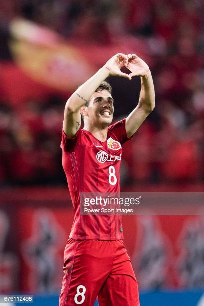 Oscar dos Santos Emboaba Junior of Shanghai SIPG FC celebrates a score during the AFC Champions League 2017 Group F match between Shanghai SIPG FC...