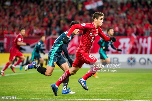 Oscar dos Santos Emboaba Junior of Shanghai SIPG FC in action during their AFC Champions League 2017 Playoff Stage match between Shanghai SIPG FC and...