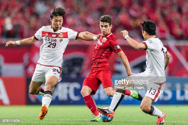 Oscar dos Santos Emboaba Junior of Shanghai SIPG FC in action during the AFC Champions League 2017 Group F match between Shanghai SIPG FC and FC...