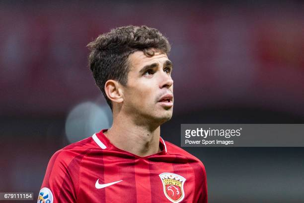 Oscar dos Santos Emboaba Junior of Shanghai SIPG FC reacts during the AFC Champions League 2017 Group F match between Shanghai SIPG FC and FC Seoul...