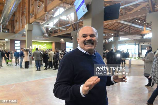 Oscar Farinetti founder of Eataly attends the press preview at CAAB FICO Agro Food Center on November 9 2017 in Bologna Italy Fico it's the world's...