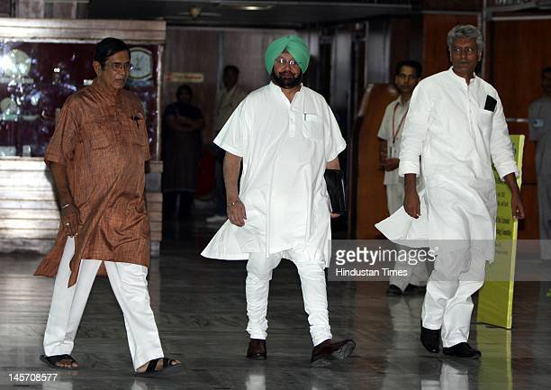 Oscar Fernandes AICC General secretary and Captain Amarinder Singh and former Chief Minister of Punjab attend the Congress Working Committee meeting...