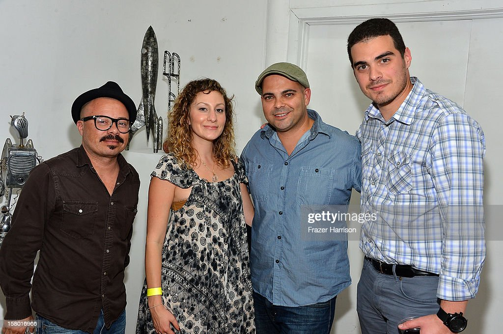 Oscar Fuentes, Rose Miller, Hector Sanchez, and Michael Lopez attend the Art Miami after party at Bakehouse Art Complex on December 8, 2012 in Miami, Florida.