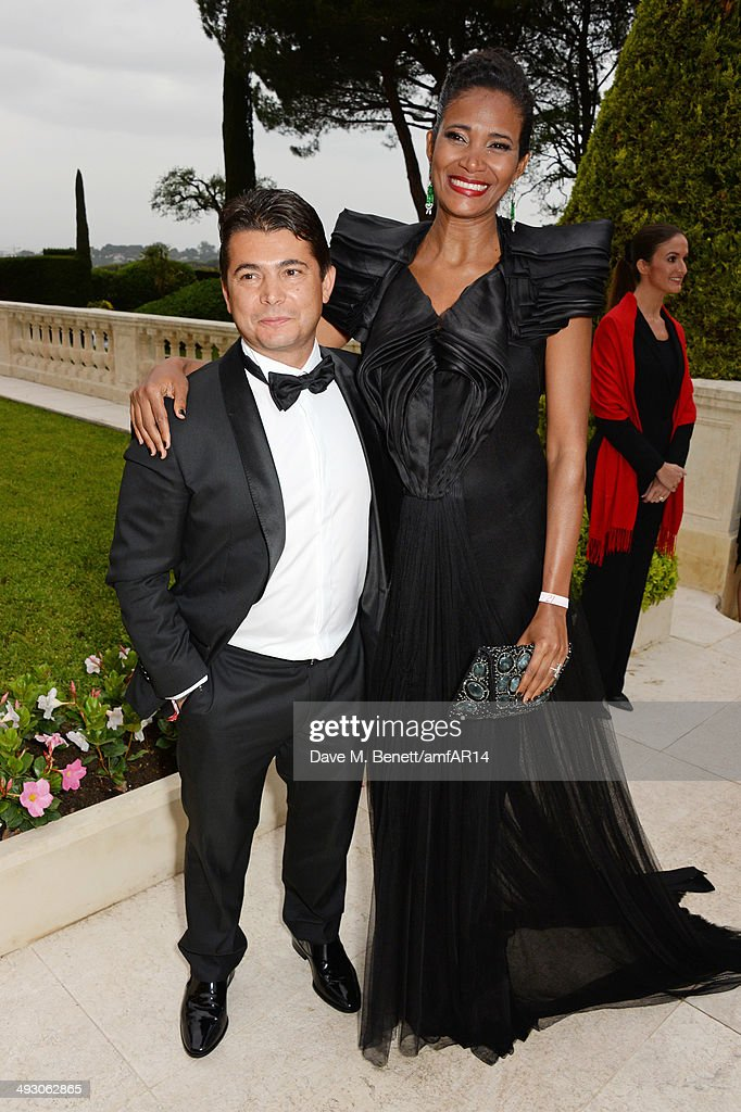 Oscar Generale (L) and Denny Mendez attend amfAR's 21st Cinema Against AIDS Gala presented by WORLDVIEW, BOLD FILMS, and BVLGARI at Hotel du Cap-Eden-Roc on May 22, 2014 in Cap d'Antibes, France.