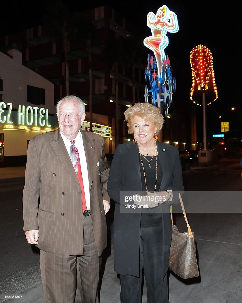 <a gi-track='captionPersonalityLinkClicked' href=/galleries/search?phrase=Oscar+Goodman&family=editorial&specificpeople=646020 ng-click='$event.stopPropagation()'>Oscar Goodman</a> and Las Vegas Mayor Carolyn Goodman attend the Fremont Country Club opening with Louis Prima Jr. and The Witnesses at Fremont Country Club on March 6, 2013 in Las Vegas, Nevada.