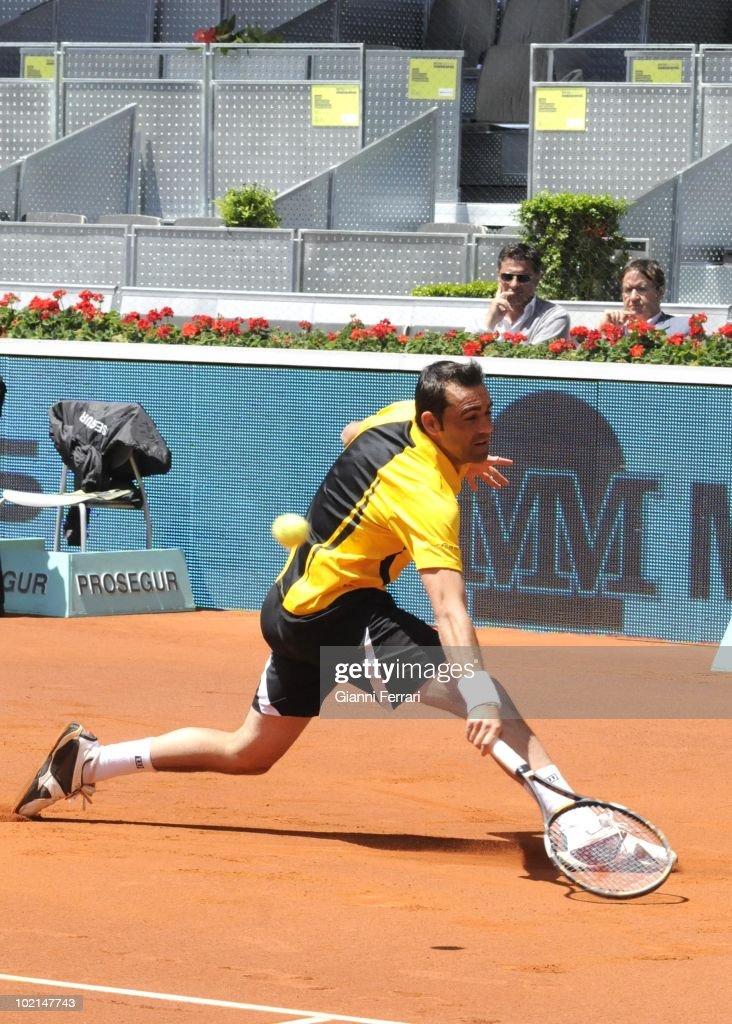 Oscar Hernandez, ESP, in 'Mutua Madrilena Madrid Open' of tennis, 8th May 2010, in 'La Caja Magica'. Madrid, Spain.
