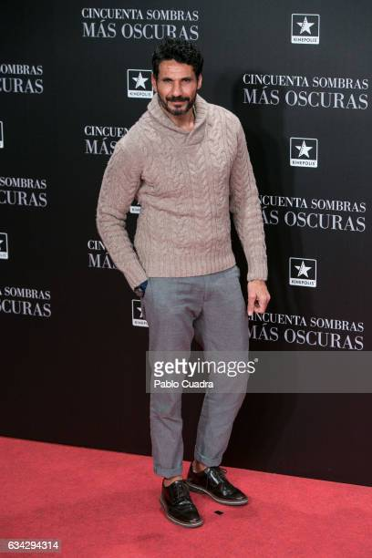 Oscar Higares attends the 'Fifty Shades Darker' premiere at Kinepolis Cinema on February 8 2017 in Madrid Spain