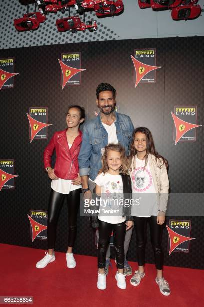 Oscar Higares attends the new Ferrari Land at Port Aventura World on April 6 2017 in Tarragona Spain