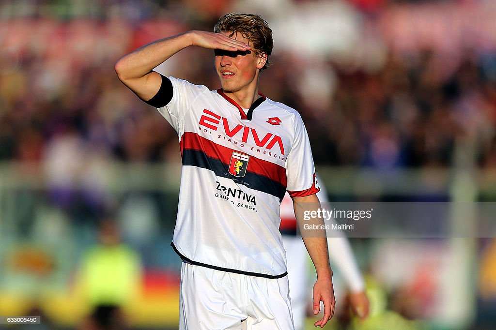 Oscar Hiljemark of Genoa CFC reacts during the Serie A match between ACF Fiorentina and Genoa CFC at Stadio Artemio Franchi on January 29, 2017 in Florence, Italy.