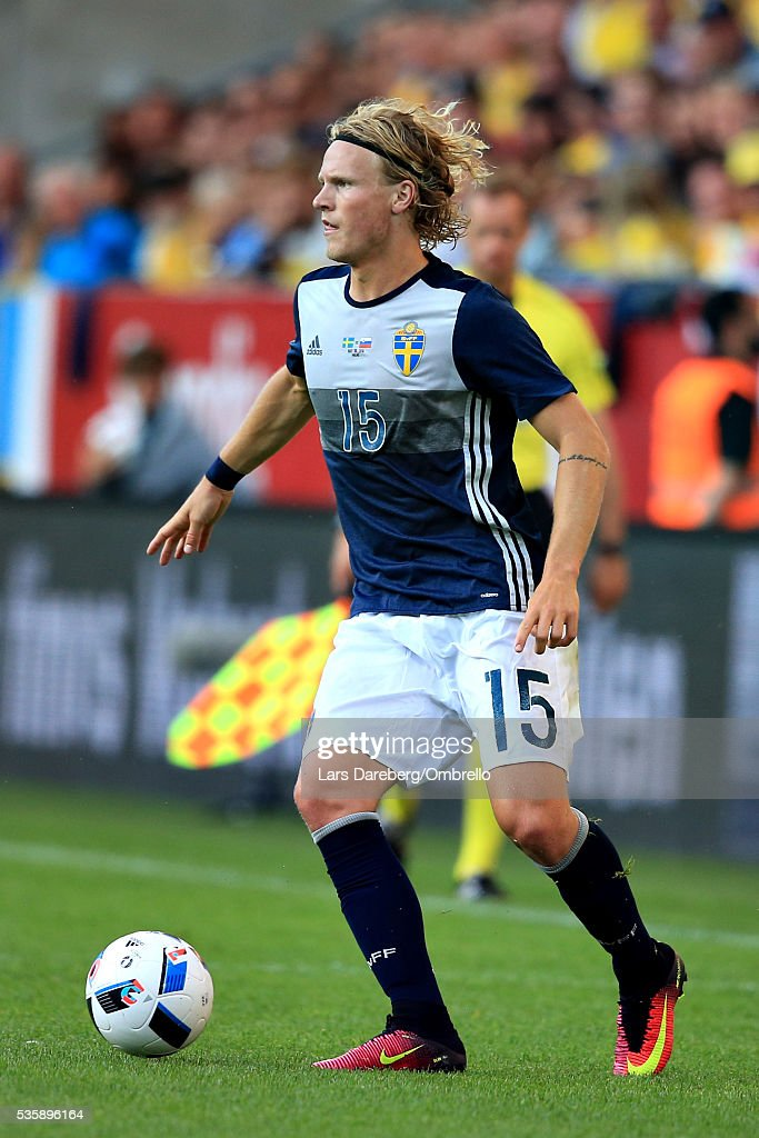 <a gi-track='captionPersonalityLinkClicked' href=/galleries/search?phrase=Oscar+Hiljemark&family=editorial&specificpeople=8803593 ng-click='$event.stopPropagation()'>Oscar Hiljemark</a> of Sweden during the international friendly match between Sweden and Slovenia on May 30, 2016 in Malmo, Sweden.