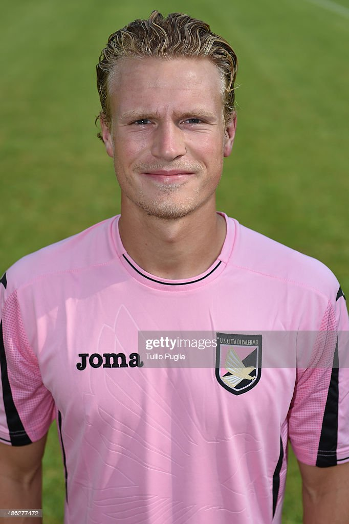Oscar Hjliemark of US Citta' di Palermo poses for the official headshot on September 2, 2015 in Palermo, Italy.