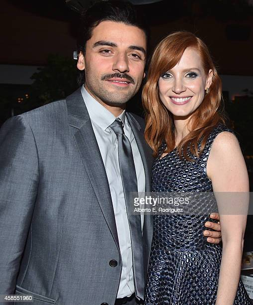 Oscar Isaac and Jessica Chastain attend AFI FEST 2014 presented by Audi opening night gala after party of A24's 'A Most Violent Year' at Dolby...