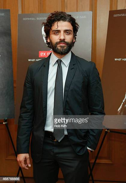 Oscar Isaac attends 'Ex Machina' New York Premiere at Crosby Street Hotel on April 6 2015 in New York City