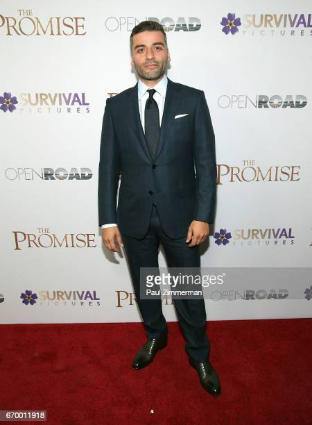 Oscar Isaac attends 'The Promise' New York Screening at Paris Theatre on April 18 2017 in New York City