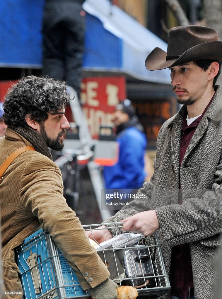 <a gi-track='captionPersonalityLinkClicked' href=/galleries/search?phrase=Oscar+Isaac&family=editorial&specificpeople=2275888 ng-click='$event.stopPropagation()'>Oscar Isaac</a> filming on location for 'Inside Llewyn Davis' on March 1, 2012 in New York City.