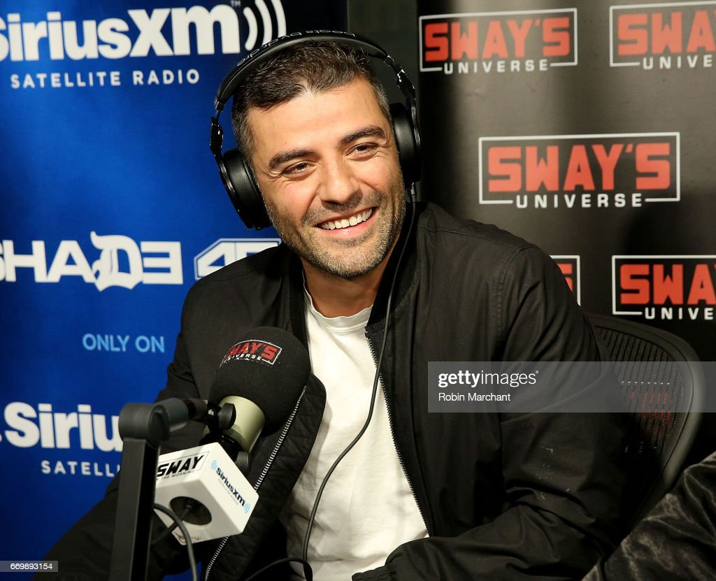 Oscar Isaac visits 'Sway in the Morning' with Sway Calloway on Eminem's Shade 45 at SiriusXM Studios on April 18, 2017 in New York City.