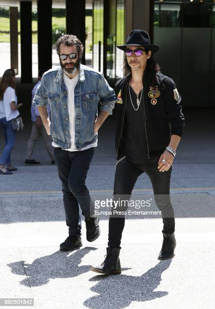 Oscar Jaenada attend the funeral chapel for the fashion designer David Delfin at Dress Museum on June 4 2017 in Madrid Spain