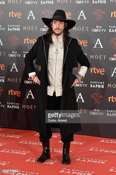 Oscar Jaenada attends Goya Cinema Awards 2016 at Madrid Marriott Auditorium on February 6 2016 in Madrid Spain