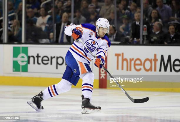 Oscar Klefbom of the Edmonton Oilers in action against the San Jose Sharks during Game Six of the Western Conference First Round during the 2017 NHL...