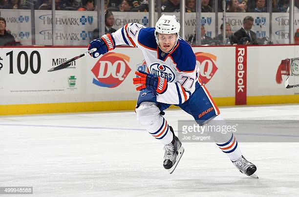 Oscar Klefbom of the Edmonton Oilers skates against the Pittsburgh Penguins at Consol Energy Center on November 28 2015 in Pittsburgh Pennsylvania