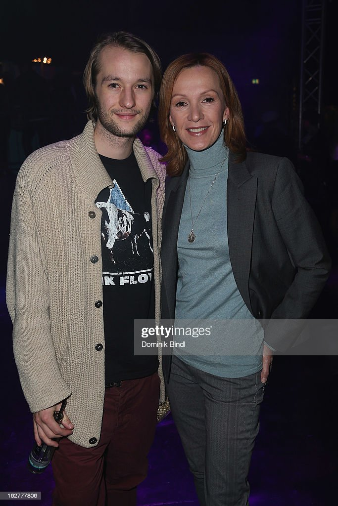 Oscar Lauterbach and Katja Flint attend the BRIGITTE fashion event 2013 on February 26, 2013 in Munich, Germany.