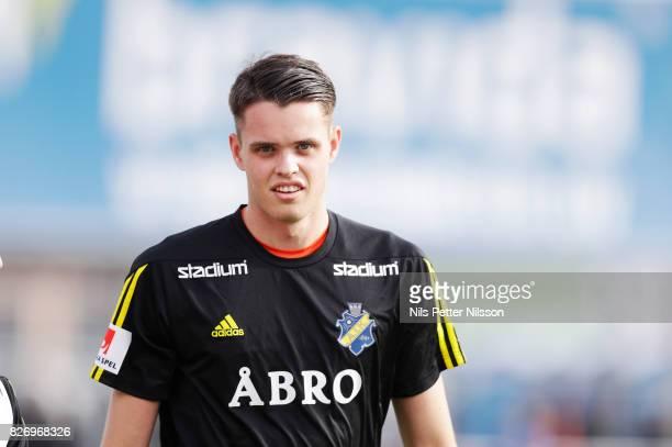 Oscar Linner of AIK ahead of the Allsvenskan match between IK Sirius FK and AIK at Studenternas IP on August 6 2017 in Uppsala Sweden