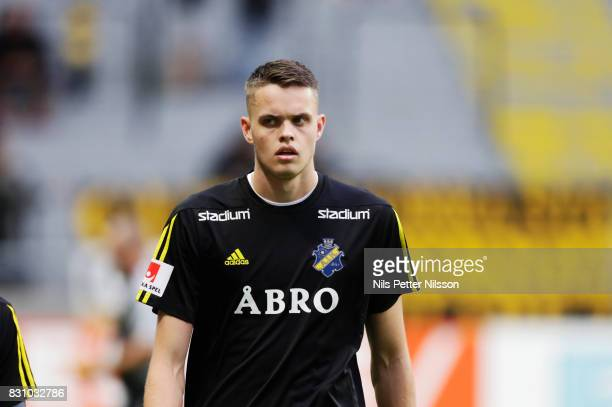 Oscar Linner of AIK during the Allsvenskan match between AIK and Athletic FC Eskilstura at Friends arena on August 13 2017 in Solna Sweden