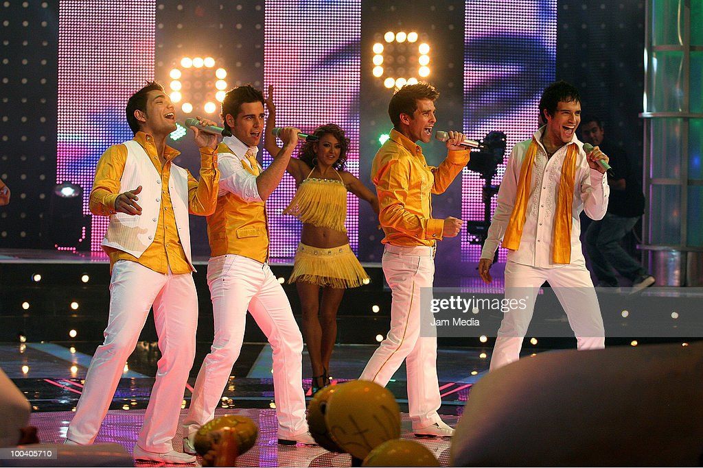 Oscar, Matias, Mario and Agustin perform during the 9th concert of the reality show 'Second Chance', of TV Azteca, at Churubusco Studies on May 23, 2010 in Mexico City, Mexico.