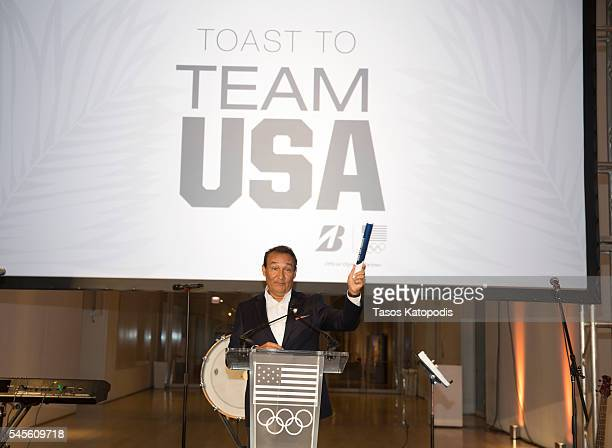 Oscar Munoz CEO of United Airlines speaks at the Toast to Team USA presented by Bridgestone at The Art Institute of Chicago on July 8 2016 in Chicago...