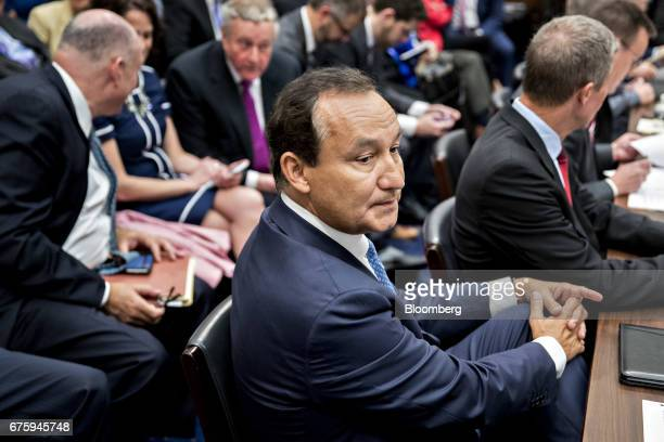 Oscar Munoz chief executive officer of United Continental Holdings Inc waits to begin a House Transportation and Infrastructure Committee hearing in...