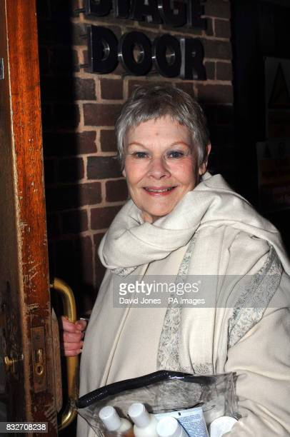 Oscar nominee Dame Judi Dench arrives at the stage door of the Royal Shakespeare Company in Stratford Upon Avon for this evening's performance of the...