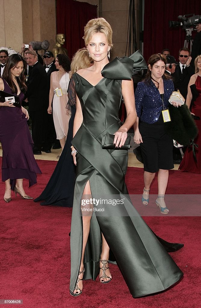Oscar nominee for Best Actress in a leading role Charlize Theron from 'North Country' arrives at the 78th Annual Academy Awards at the Kodak Theatre...