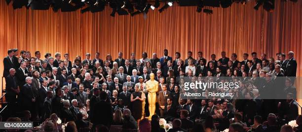Oscar nominees gather during the 89th Annual Academy Awards Nominee Luncheon at The Beverly Hilton Hotel on February 6 2017 in Beverly Hills...