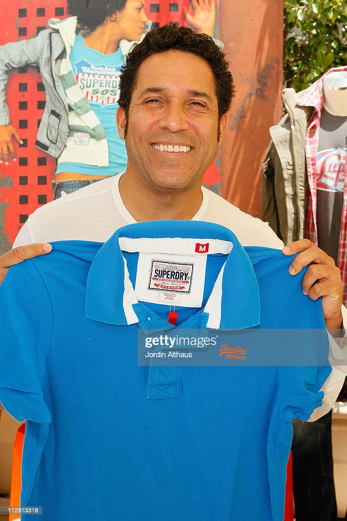 Oscar Nunez poses with Superdry at the Kari Feinstein MTV Movie Awards Style Lounge held at Montage Beverly Hills on June 4, 2010 in Beverly Hills, California.