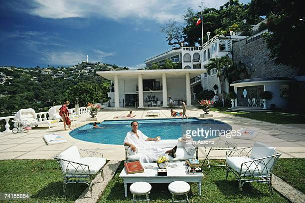 Oscar Obregon Salazar Gomez Velez Guzman y Murphy at the Villa Nirvana hotel in Acapulco Mexico November 1986