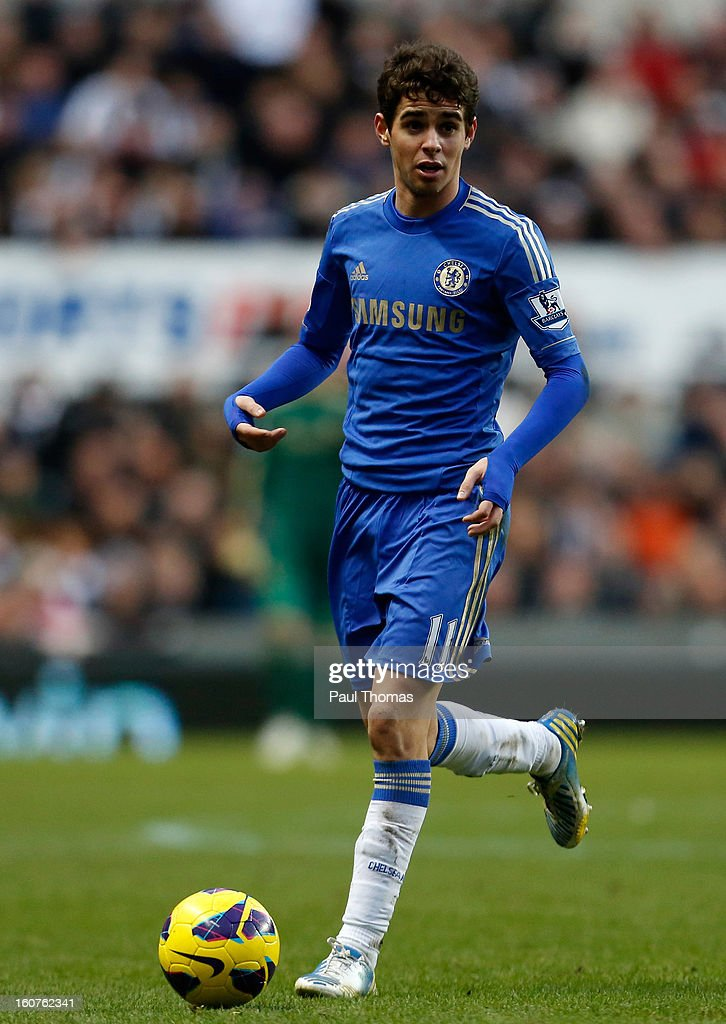 Oscar of Chelsea in action during the Premier League match between Newcastle United and Chelsea at St James Park on February 2, 2013 in Newcastle, England.