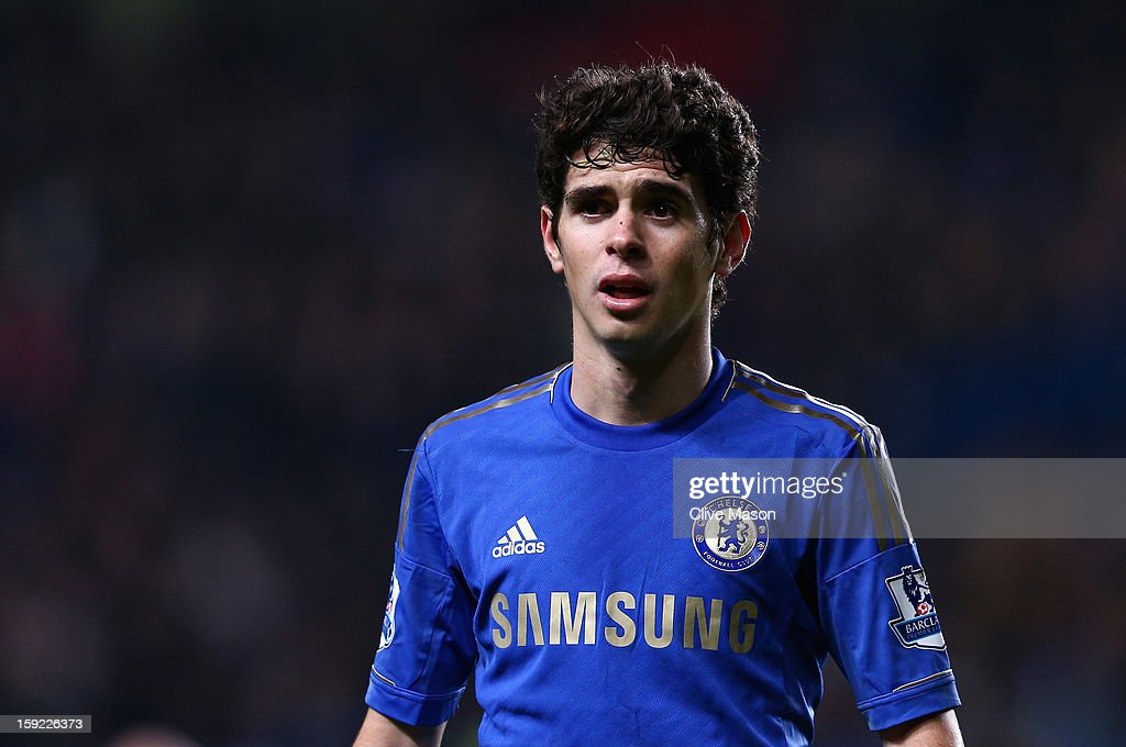 Oscar of Chelsea looks on during the Capital One Cup Semi-Final first leg match between Chelsea and Swansea City at Stamford Bridge on January 9, 2013 in London, England.