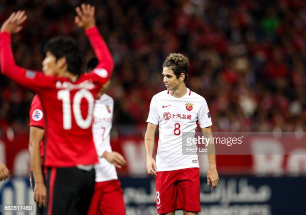 Oscar of Shanghai SIPG looks on during the AFC Champions League semi final second leg match between Urawa Red Diamonds and Shanghai SIPG at Saitama...