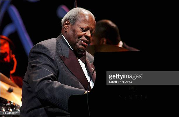 Oscar Peterson in concert international jazz festival in Montreal Canada on July 10 2004