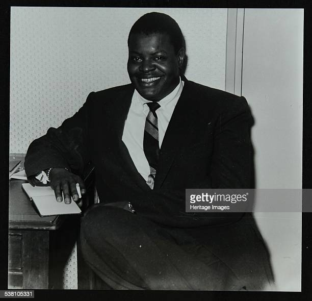 Oscar Peterson in the green room at Colston Hall Bristol 1955 The photographer's first photo for a record cover Artist Denis Williams