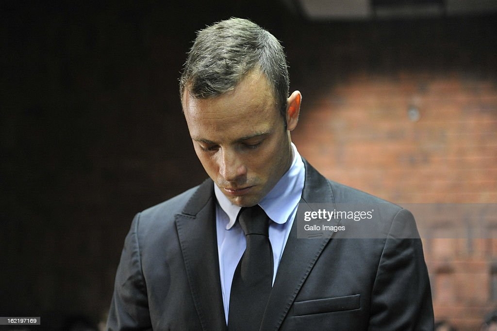 <a gi-track='captionPersonalityLinkClicked' href=/galleries/search?phrase=Oscar+Pistorius&family=editorial&specificpeople=224406 ng-click='$event.stopPropagation()'>Oscar Pistorius</a> appears for his bail hearing in the Pretoria Magistrate Court on February 20, 2013 in Pretoria, South Africa. <a gi-track='captionPersonalityLinkClicked' href=/galleries/search?phrase=Oscar+Pistorius&family=editorial&specificpeople=224406 ng-click='$event.stopPropagation()'>Oscar Pistorius</a>, who has been charged with the murder after he allegedly shot dead his girlfriend Reeva Steenkamp at his home in Silver Woods last Thursday, is appearing in court today for his bail hearing.