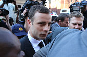 Oscar Pistorius arrives at court on September 11 2014 in Pretoria South Africa South African Judge Thokosile Masipa is due to give her verdict at the...